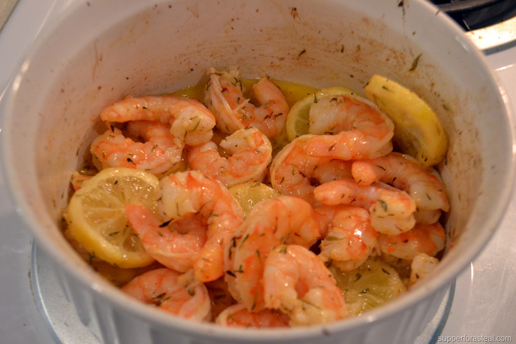 Roasted Lemon Garlic Shrimp - Supper for a Steal