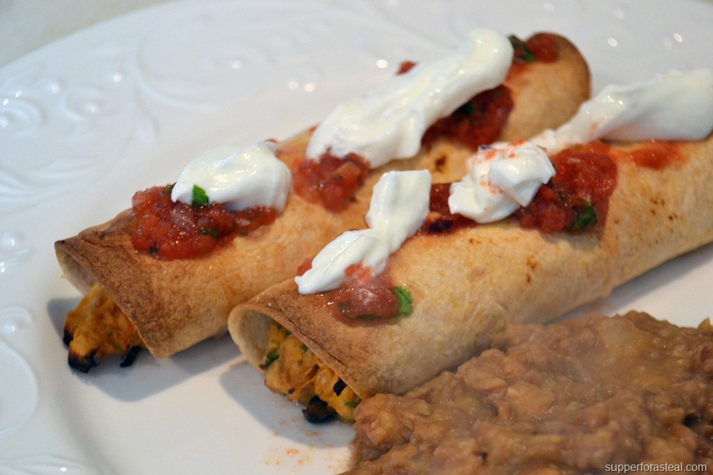 Creamy Chicken Taquitos - Supper for a Steal