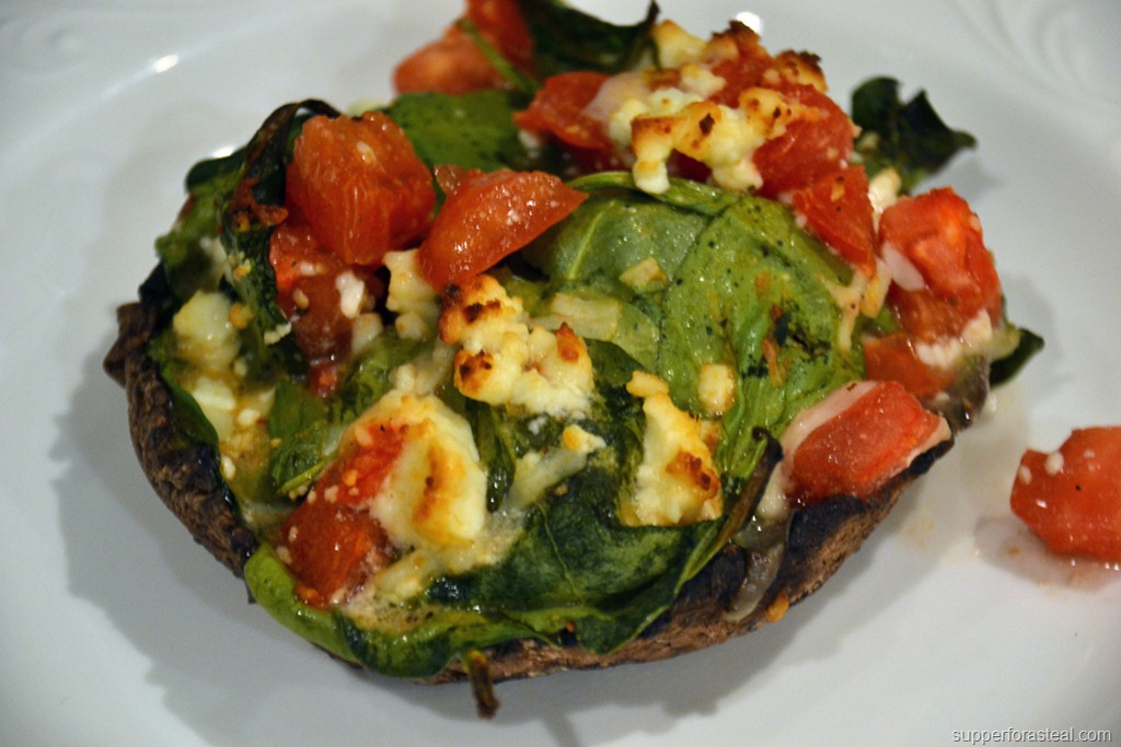 Stuffed Mushrooms Spinach