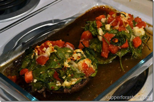 Spinach and Feta Stuffed Mushrooms2