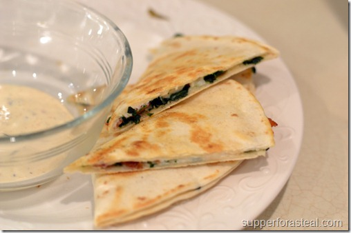 spinach_bacon_quesadillas