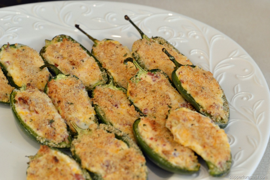 Baked Jalapeno Poppers #SundaySupper - Supper for a Steal
