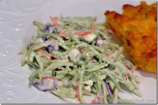 Blue Cheese Broccoli Slaw - Supper for a Steal