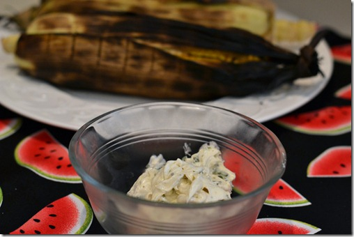 Grilled Corn on the Cob with LOL Basil Butter - Supper for a Steal
