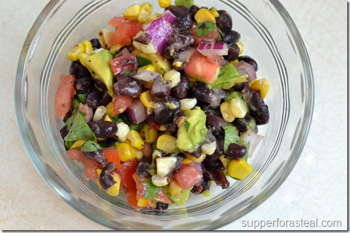 Southwester Corn & Black Bean Salad - Supper for a Steal