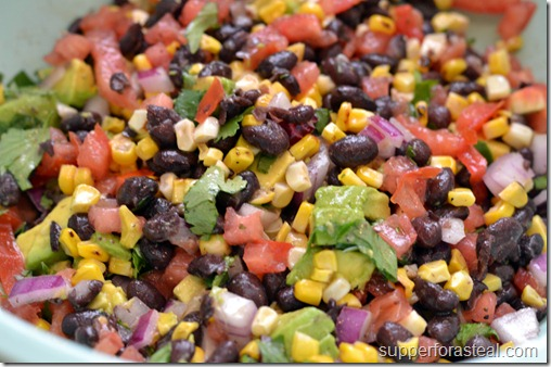 Southwestern Corn & Black Bean Salad - Supper for a Steal