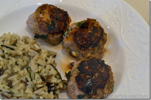 Spinach and Feta Chicken Meatballs - Supper for a Steal