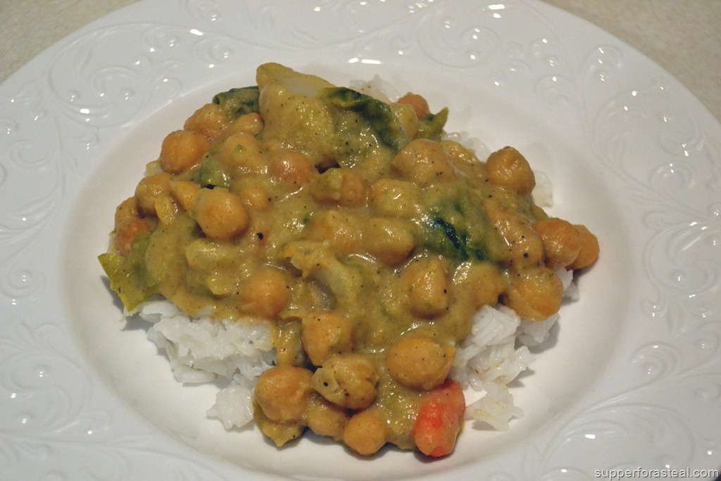 Chickpea and Potato Curry - Supper for a Steal