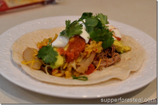 Shredded Beef Burrito - Supper for a Steal