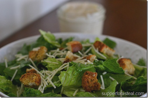 Caesar Salad - Supper for a Steal