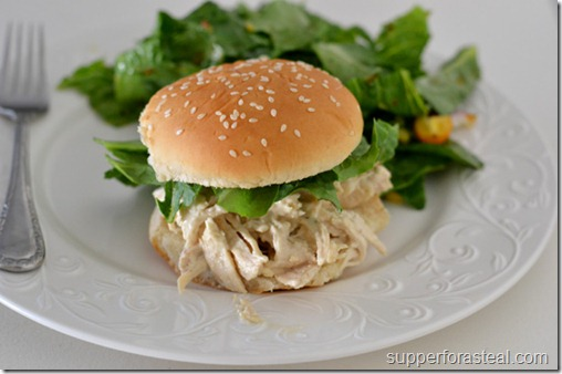 Chicken Caesar Sandwich - Supper for a Steal