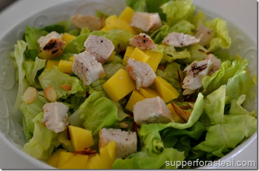 Chicken, Mango, and Toasted Almond Salad - Supper for a Steal