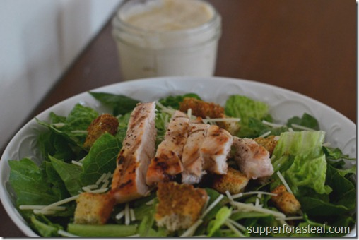 Grilled Chicken Caesar Salad - Supper for a Steal