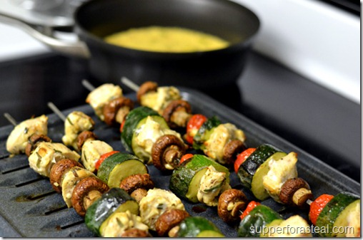 Mediterranean Chicken Kabobs - Supper for a Steal