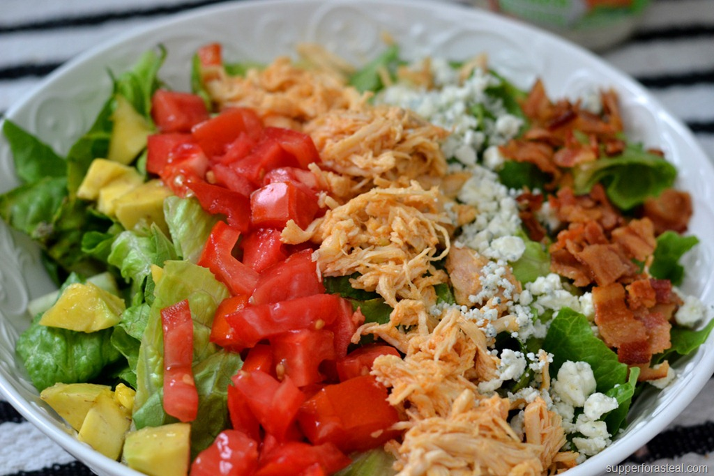 Buffalo Chicken Cobb Salad - Supper for a Steal