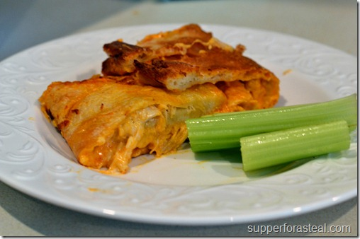 Buffalo Chicken Stromboli - Supper for a Steal