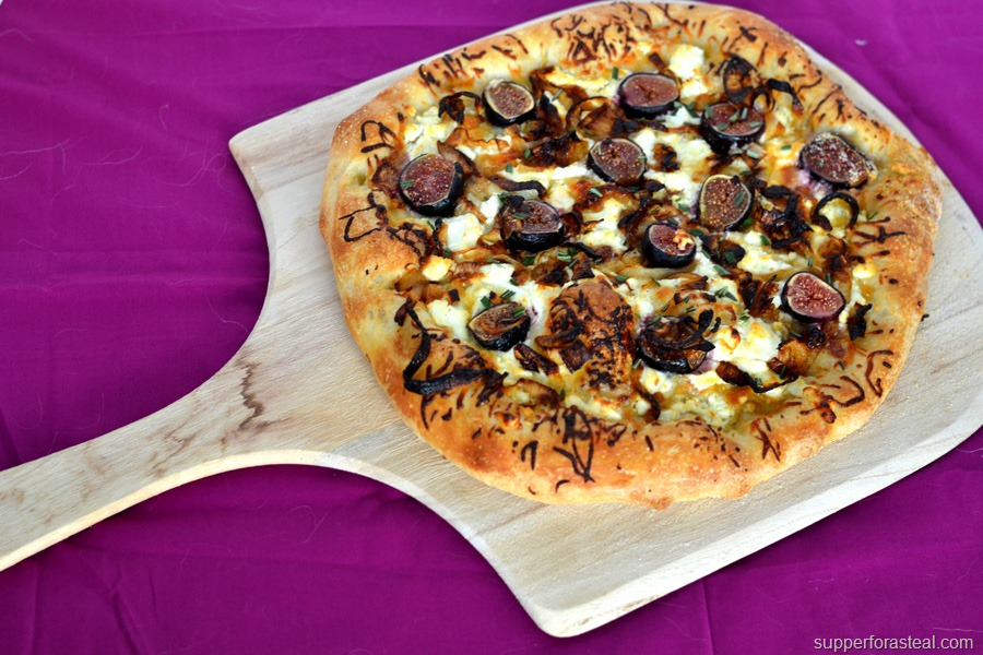 Goat Cheese Pizza Fig & goat cheese pizza