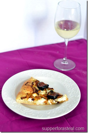 Fig & Goat Cheese Pizza - Supper for a Steal