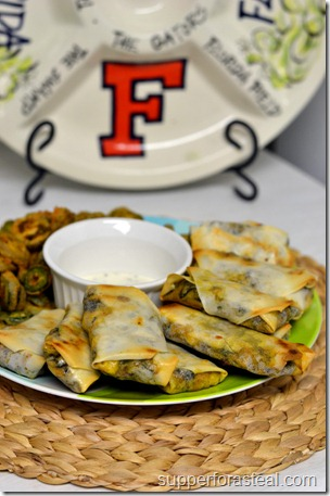 Southwestern Baked Spring Rolls - Supper for a Steal