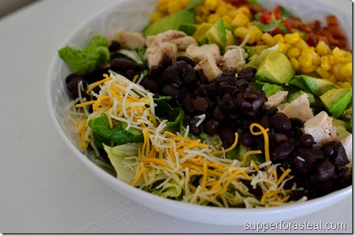 Southwestern Chicken Cobb Salad - Supper for a Steal