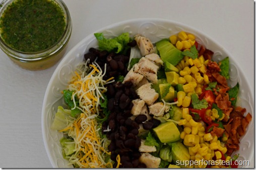 Southwestern Chicken Cobb Salad with Cilantro Lime Vinaigrette