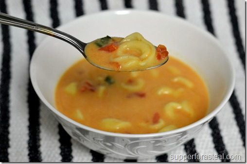 Creamy Tomato Basil Tortellini Soup - Supper for a Steal