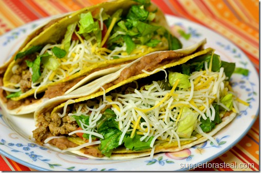 Double Decker Turkey Tacos - Supper for a Steal