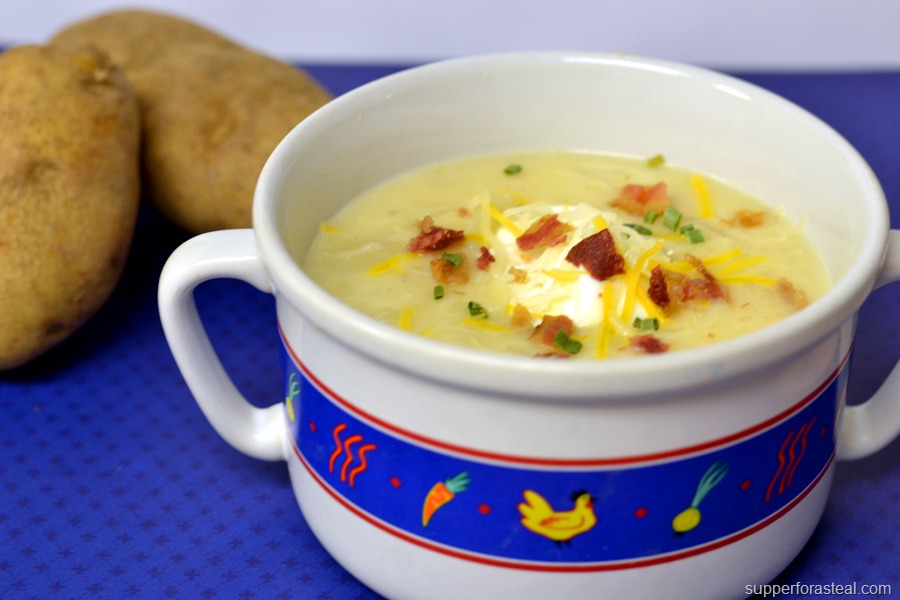 Easy Loaded Baked Potato Soup Loaded baked potato soup