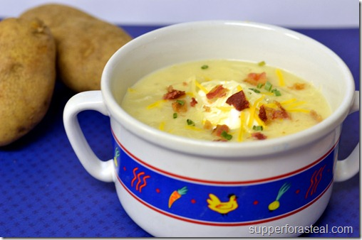 Loaded Baked Potato Soup - Supper for a Steal