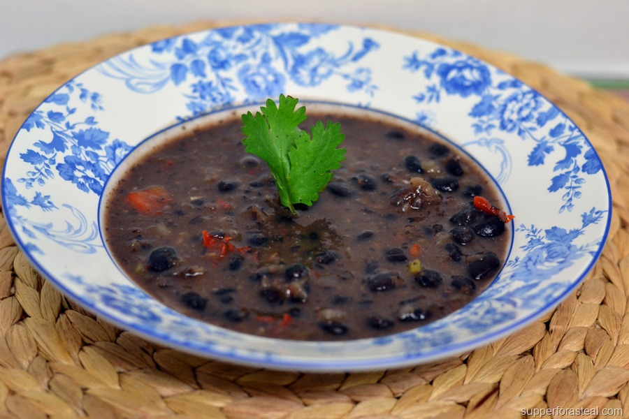 30 Minute Black Bean Soup for #SundaySupper - Supper for a ...