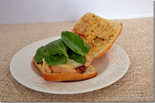 Chicken Pesto on Ciabatta -- Supper for a Steal