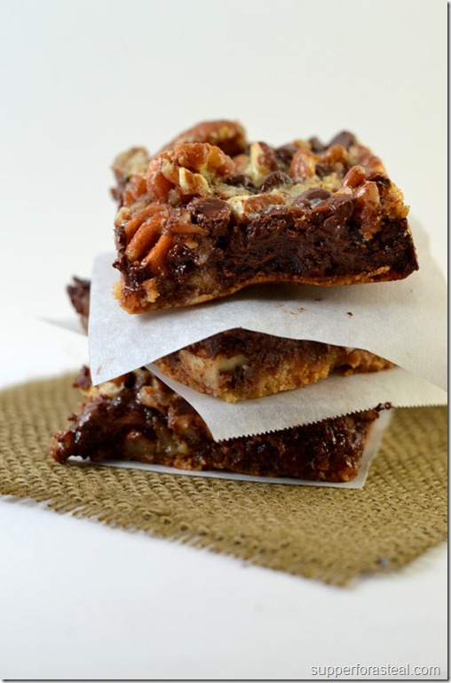 Chocolate Pecan Pie Bars -- Supper for a Steal