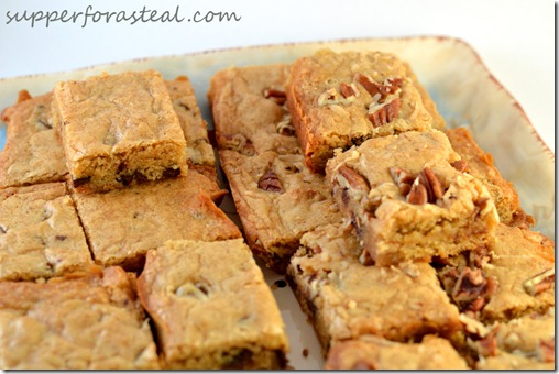Congo Bars -- Supper for a Steal