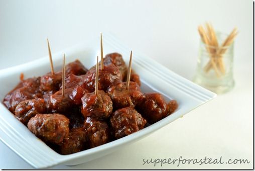 Cranberry Cocktail Meatballs -- Supper for a Steal