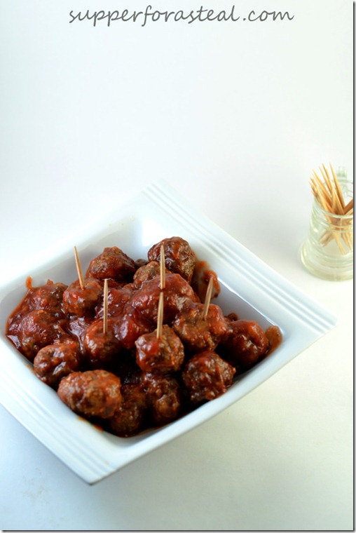 Cranberry Cocktail Meatballs - Supper for a Steal