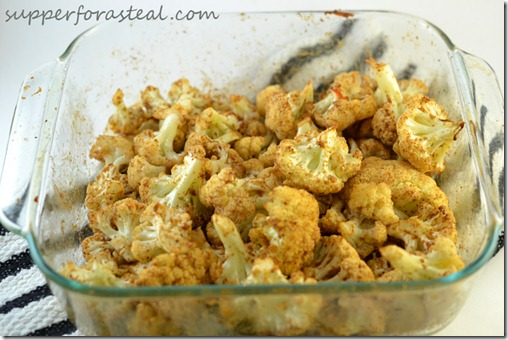 Garam Masala Roasted Cauliflower - Supper for a Steal