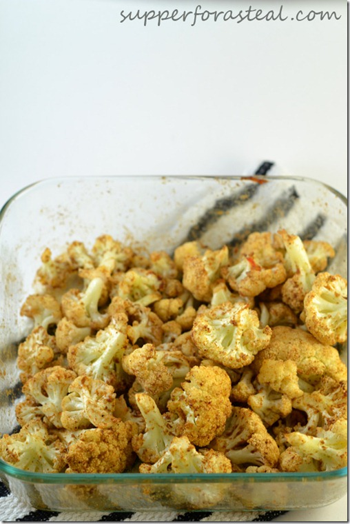 Garam Masala Roasted Cauliflower -- Supper for a Steal