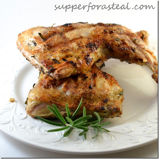 Rosemary Bricked Chicken - Supper for a Steal
