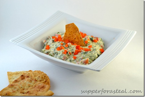 Spinach and Red Pepper Dip - Supper for a Steal