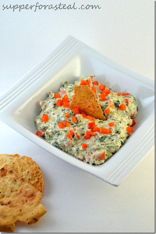 Spinach and Red Pepper Dip -- Supper for a Steal