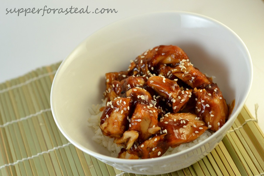 Something asian chicken thighs crock pot