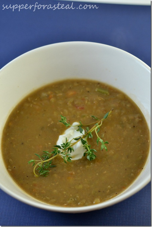 Lentil Soup - Supper for a Steal