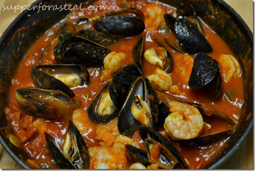 Portuguese Mussels and Shrimp in Chorizo Sauce | Happy Birthday # ...