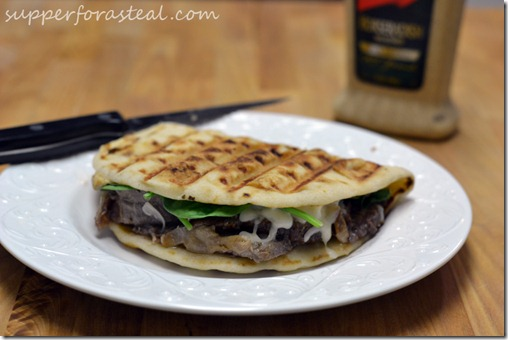 Roast Beef Flatbread Sandwich - Supper for a Steal