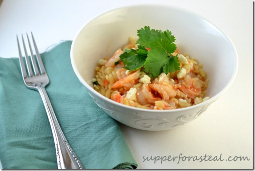 Shrimp and Orzo -- Supper for a Steal