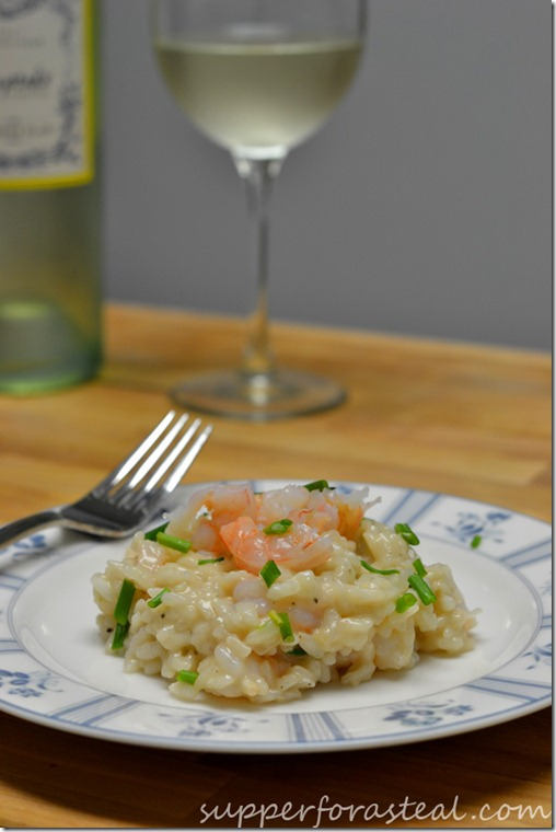 Brown Butter Shrimp Risotto -- Supper for a Steal