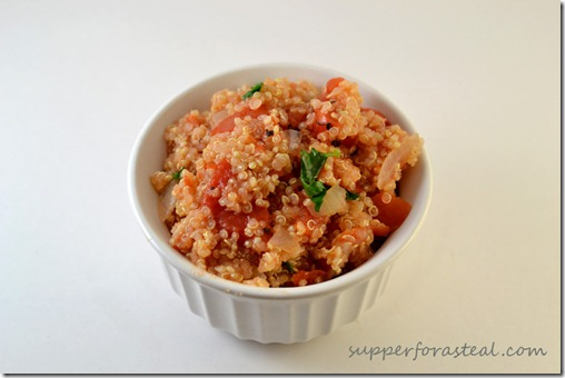 Mexican Style Quinoa -- Supper for a Steal