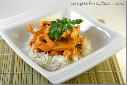 Thai Red Curry Chicken -- Supper for a Steal
