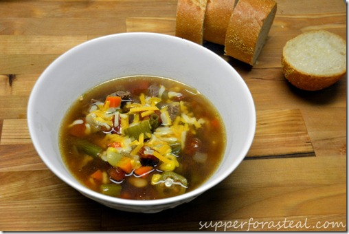 Vegetable and Beef Soup - Supper for a Steal