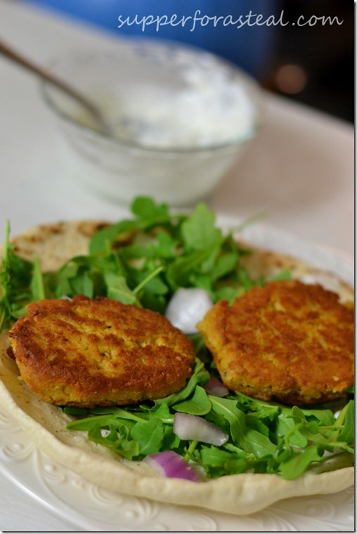 Falafel Pitas - Supper for a Steal